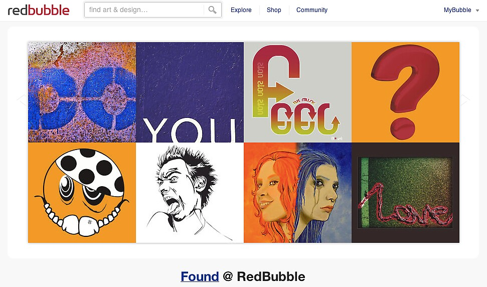 Do you feel it? - 14 December 2010 by The RedBubble Homepage