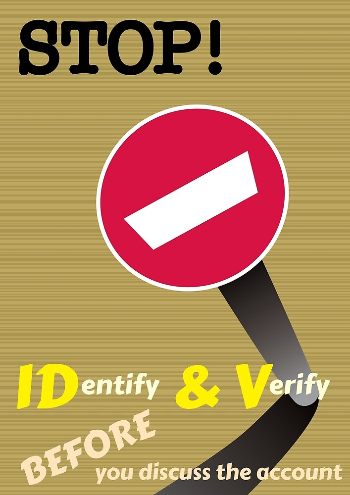Stop! Identify and Verify by Ross Hall