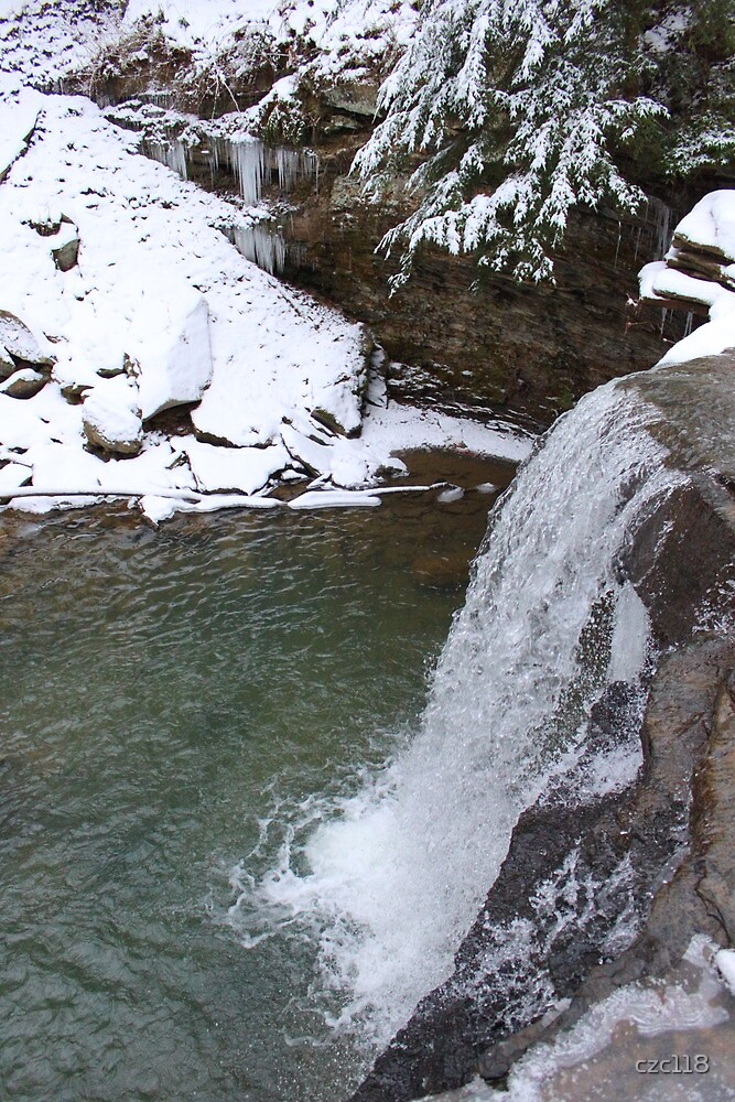 Waterfall Time Frozen by Winter by czc118