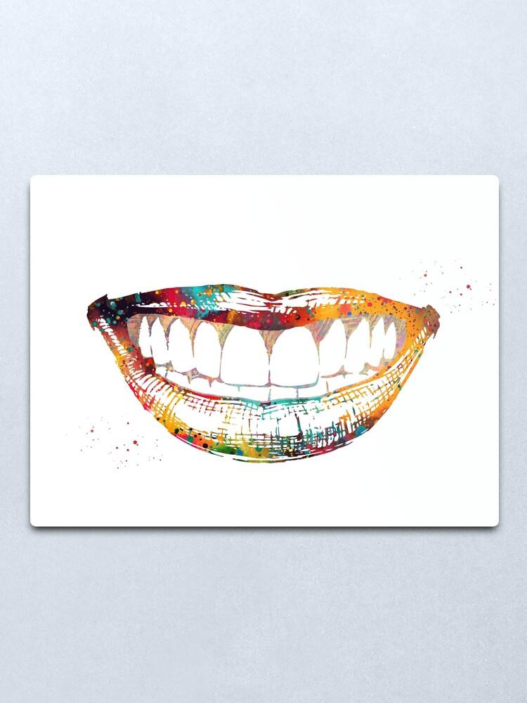 Alternate view of Smile Metal Print