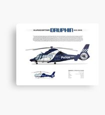 Eurocopter AS.365N3 Dauphin Helicopter - Victoria Police Air Wing Metal Print