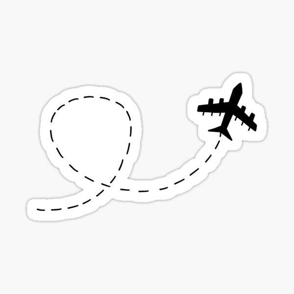 Airplane Streak Sticker Sticker