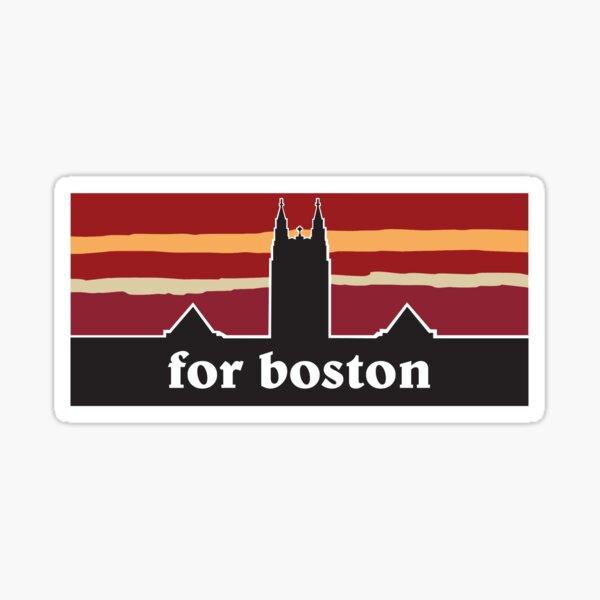 """Boston College """"for boston"""" Sticker"""