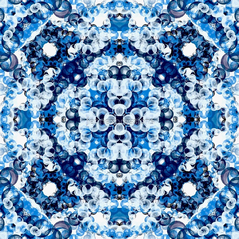 Blue Dots Galore by jennexpressions