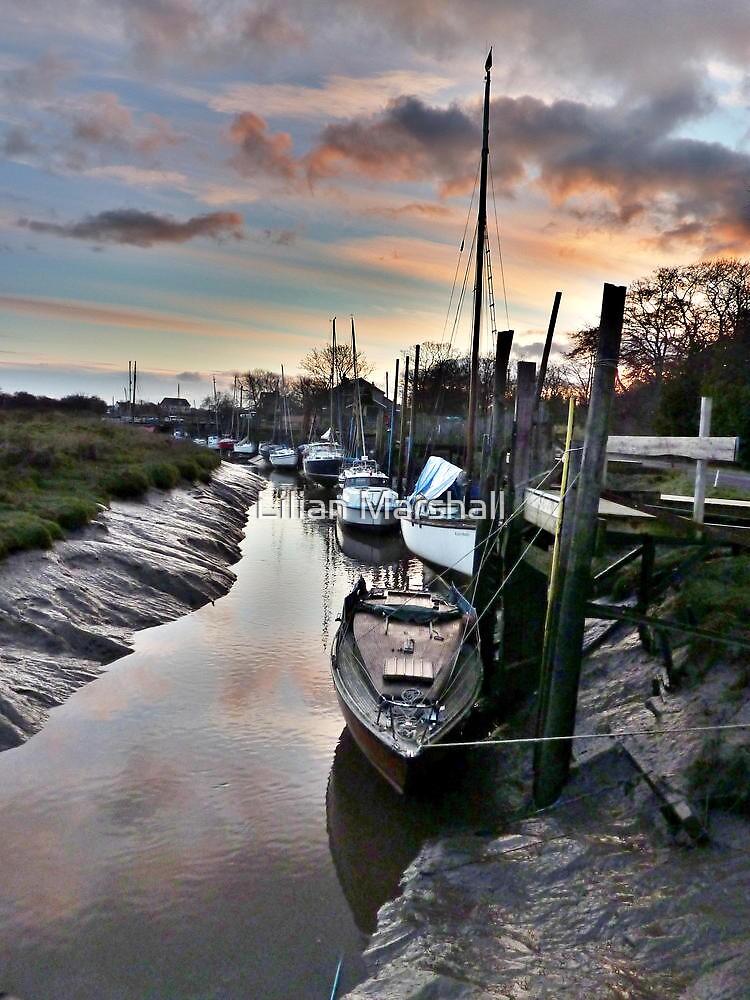 Sunset at Skippool Creek . by Lilian Marshall
