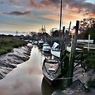 Sunset at Skippool Creek . by Lilian Marshall