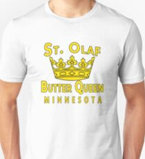 ST OLAF BUTTER QUEEN WITH CROWN Unisex T-Shirt