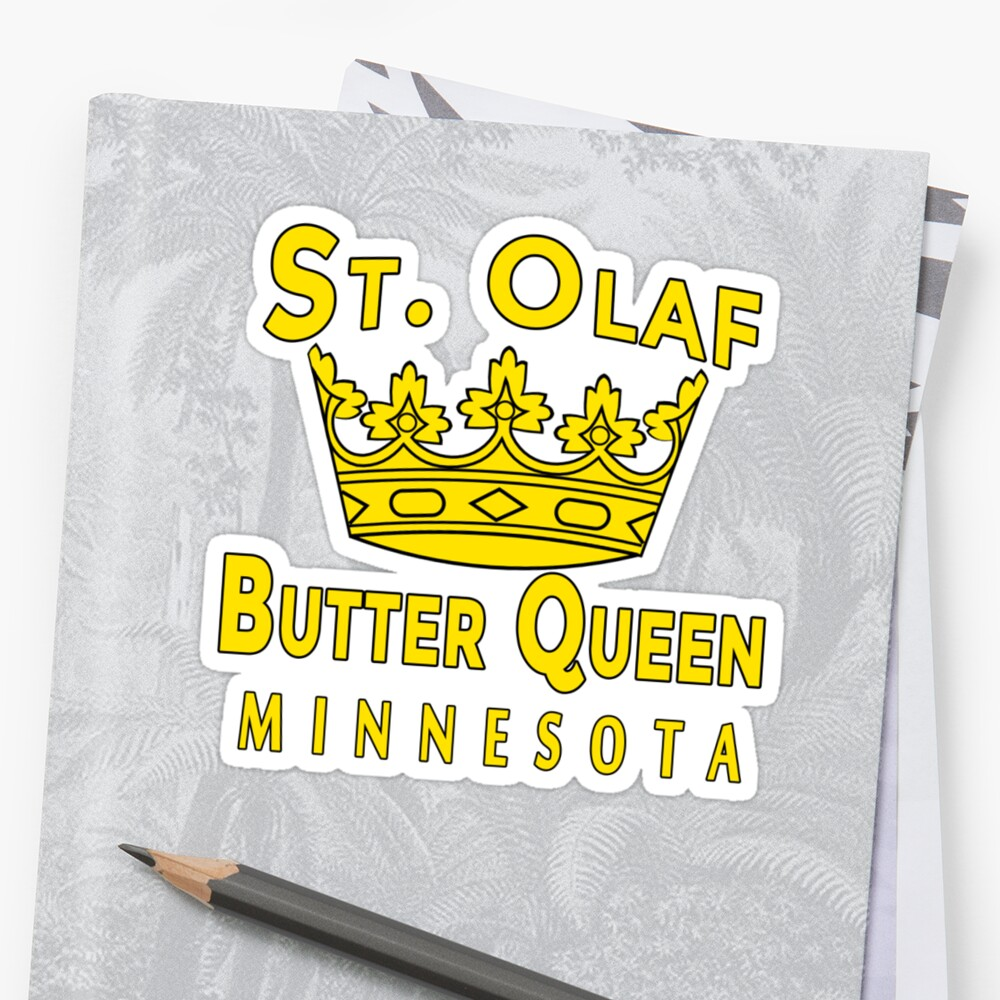 ST OLAF BUTTER QUEEN WITH CROWN\