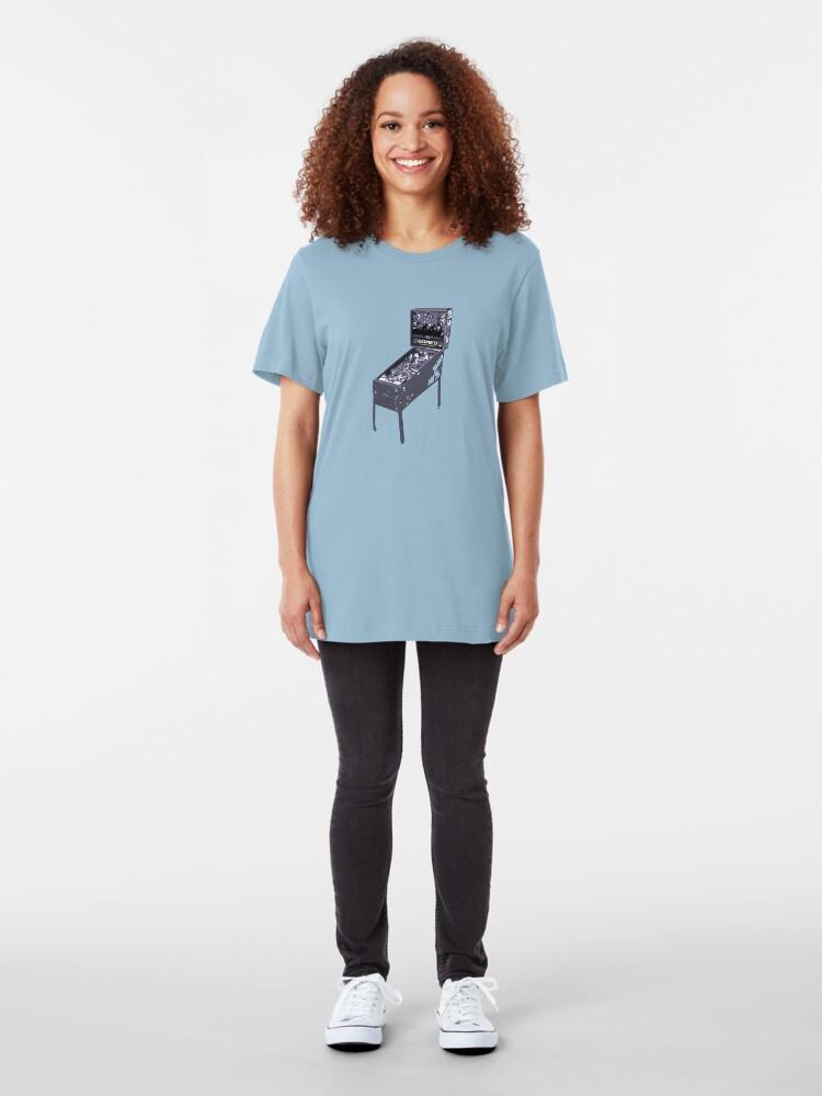 Alternate view of Pinball Gomes! Slim Fit T-Shirt