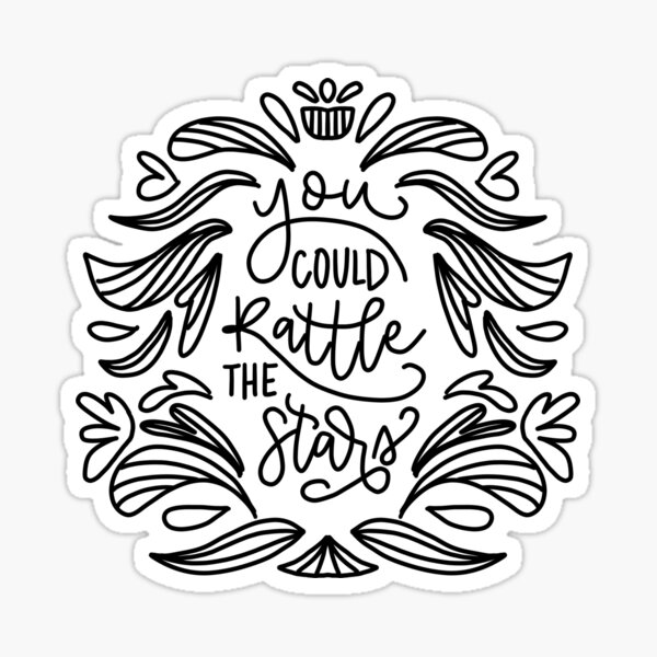 Throne of Glass- Rattle the Stars Sticker