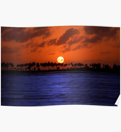 """Splendid Sunset"" - sunset in San Juan, Puerto Rico Poster"