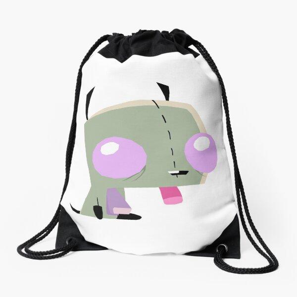 Gir in dog suit Drawstring Bag