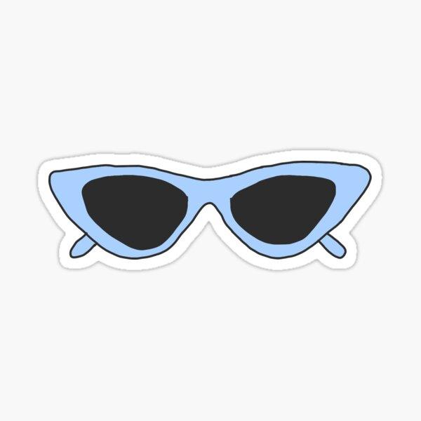 Vsco Blue Good Vibes Sticker By Ellmoswrld Redbubble