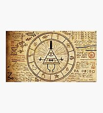 Bill Cipher Wheel Photographic Print
