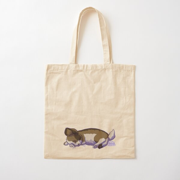 Sleeping Cat Bunny Cotton Tote Bag