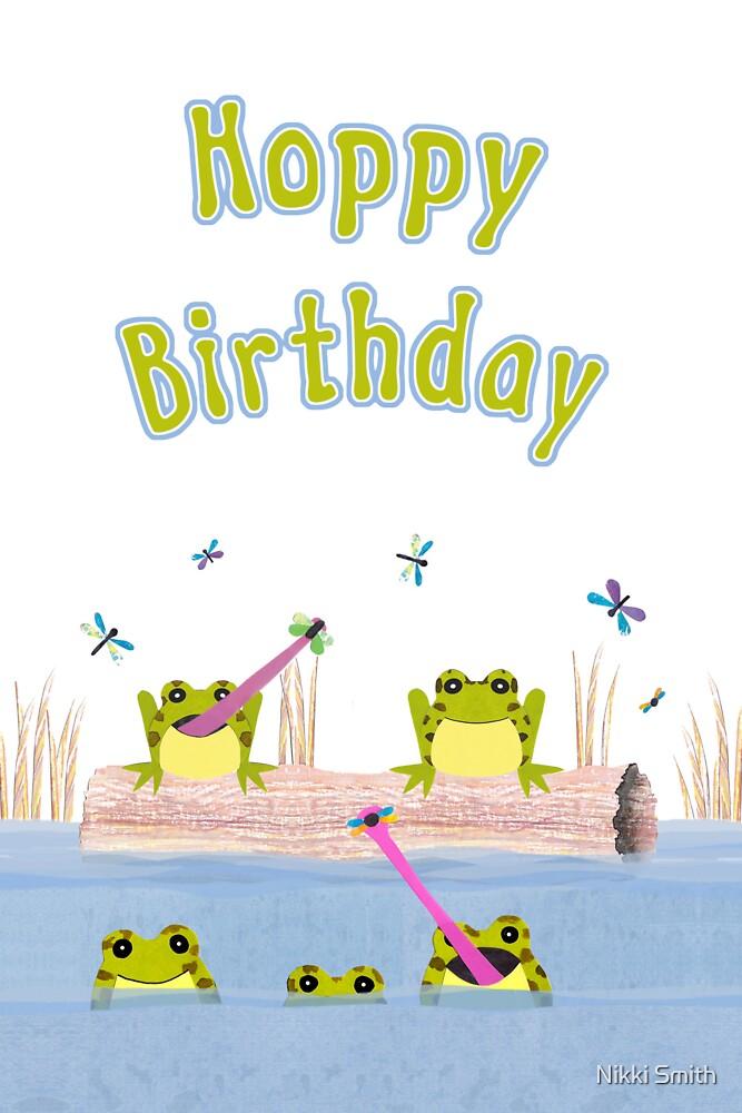 Hoppy Birthday Frogs Card by Nikki Smith