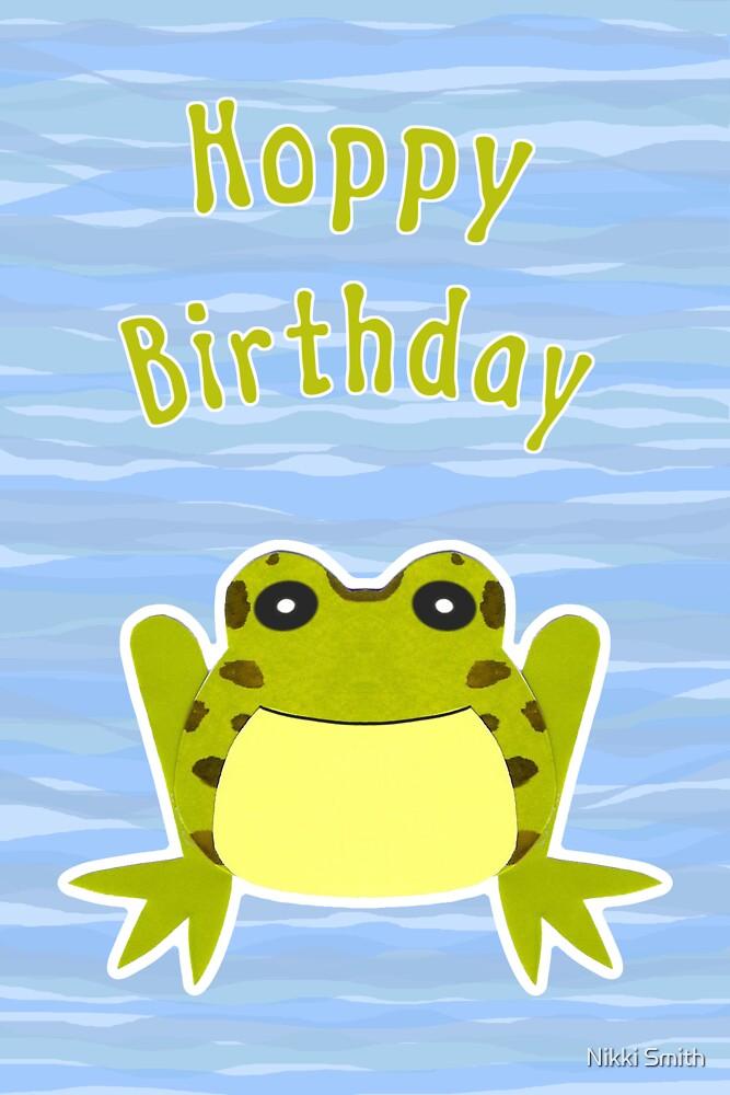 Hoppy Birthday Card by Nikki Smith