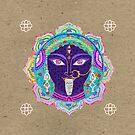 Kali ma mandala collage by Elisandra Sevenstar