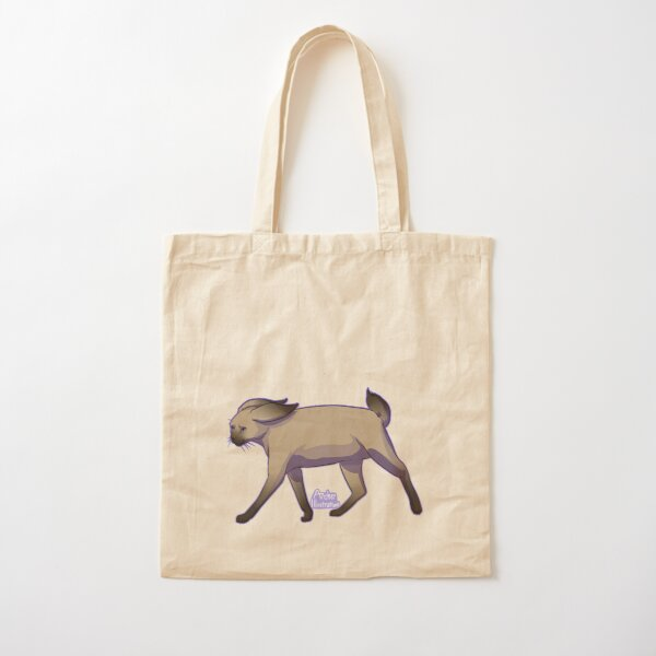 Siamese Cat Bunny On A Mission Cotton Tote Bag
