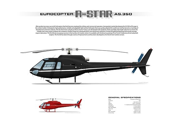 HELICOPTER PILOT Sticker Decal AS350 Eurocopter In Flight Decal AStar AS 350