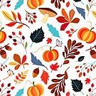 Autumn Harvest Pattern by BigAl3D