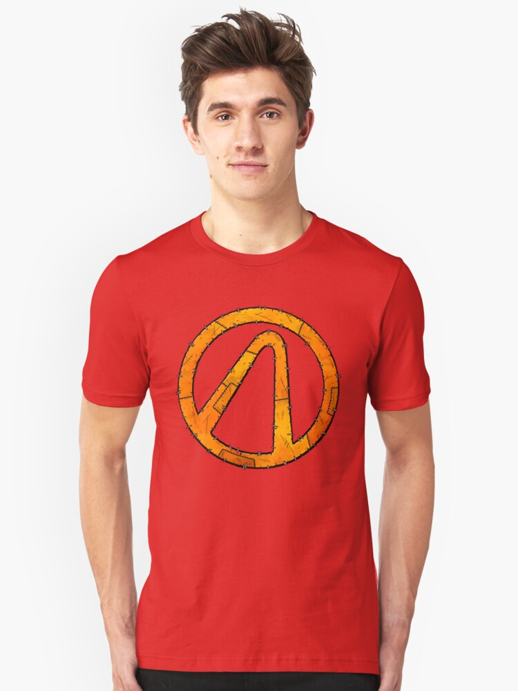 Alternate view of Vault Symbol Stitched - Borderlands Slim Fit T-Shirt