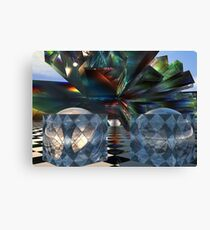 Bent and colored Tessellations Canvas Print