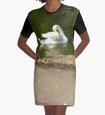 Merch #43 -- Swan - Shot 1 Graphic T-Shirt Dress