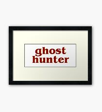 Retro 80s Ghost Hunter Framed Print