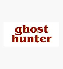 Retro 80s Ghost Hunter Photographic Print