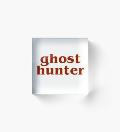 Retro 80s Ghost Hunter Acrylic Block