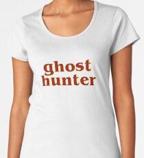 Retro 80s Ghost Hunter Premium Scoop T-Shirt