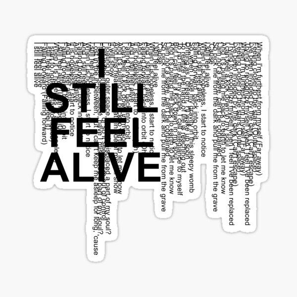 half•alive - still feel. (horizontal paragraph) Sticker