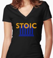 Stoic - Stay Stoic - Find Freedom Fitted V-Neck T-Shirt