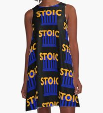 Stoic - Stay Stoic - Find Freedom A-Line Dress