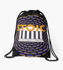 Stoic - Keep Stoic - Seek Happiness Drawstring Bag