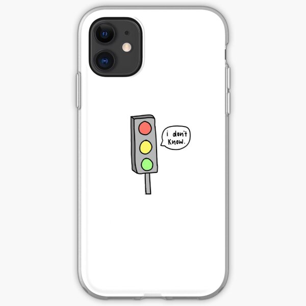 """""""I don't know"""" Traffic Light iPhone Soft Case"""