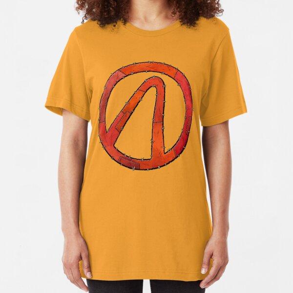 Vault Symbol Stitched Red - Borderlands Slim Fit T-Shirt