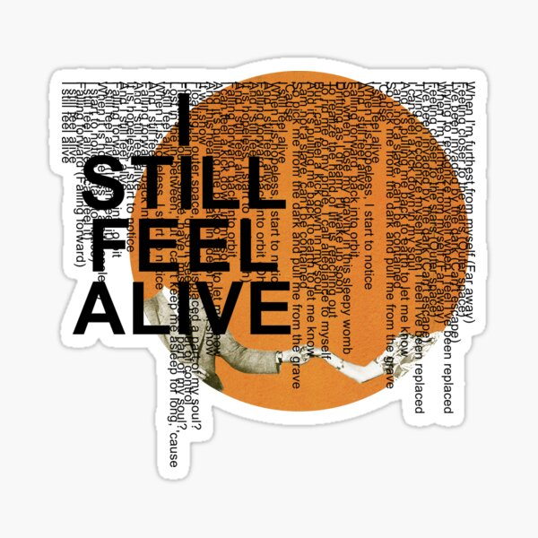 half•alive - still feel. (horizontal paragraph art) Sticker