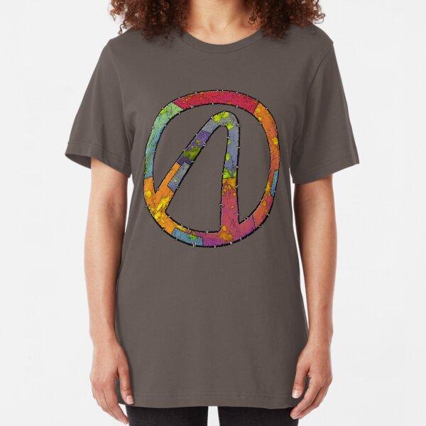 Vault Symbol Stitched Varkid - Borderlands Slim Fit T-Shirt