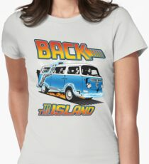 Back to the Island Lost And Back to the Future Spoof Women's Fitted T-Shirt