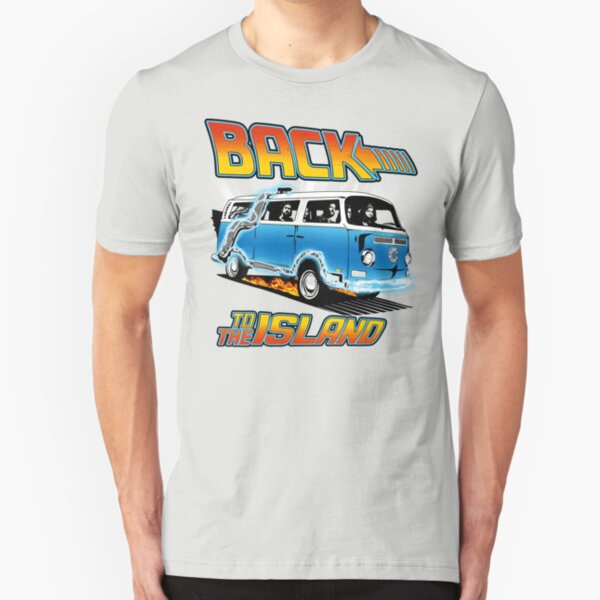 Back to the Island Lost And Back to the Future Spoof Slim Fit T-Shirt