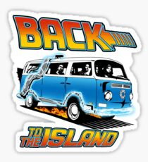 Back to the Island Lost And Back to the Future Spoof Sticker