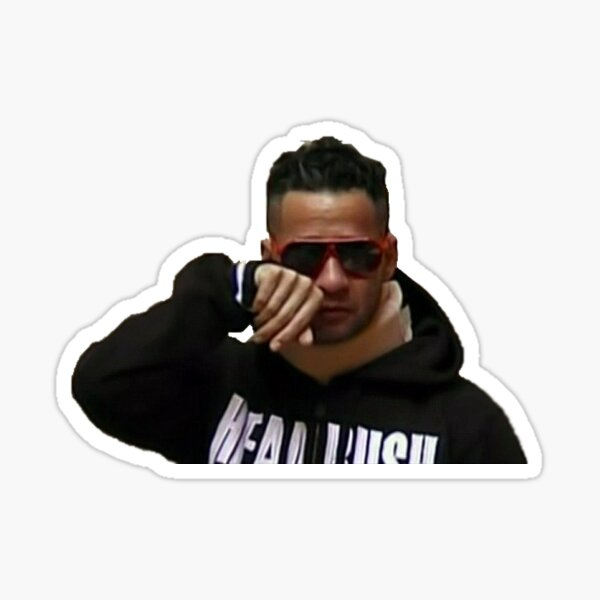 Mike The Situation Neckbrace Crying Sticker