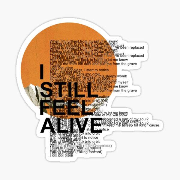 half•alive - still feel. (vertical paragraph art) Sticker