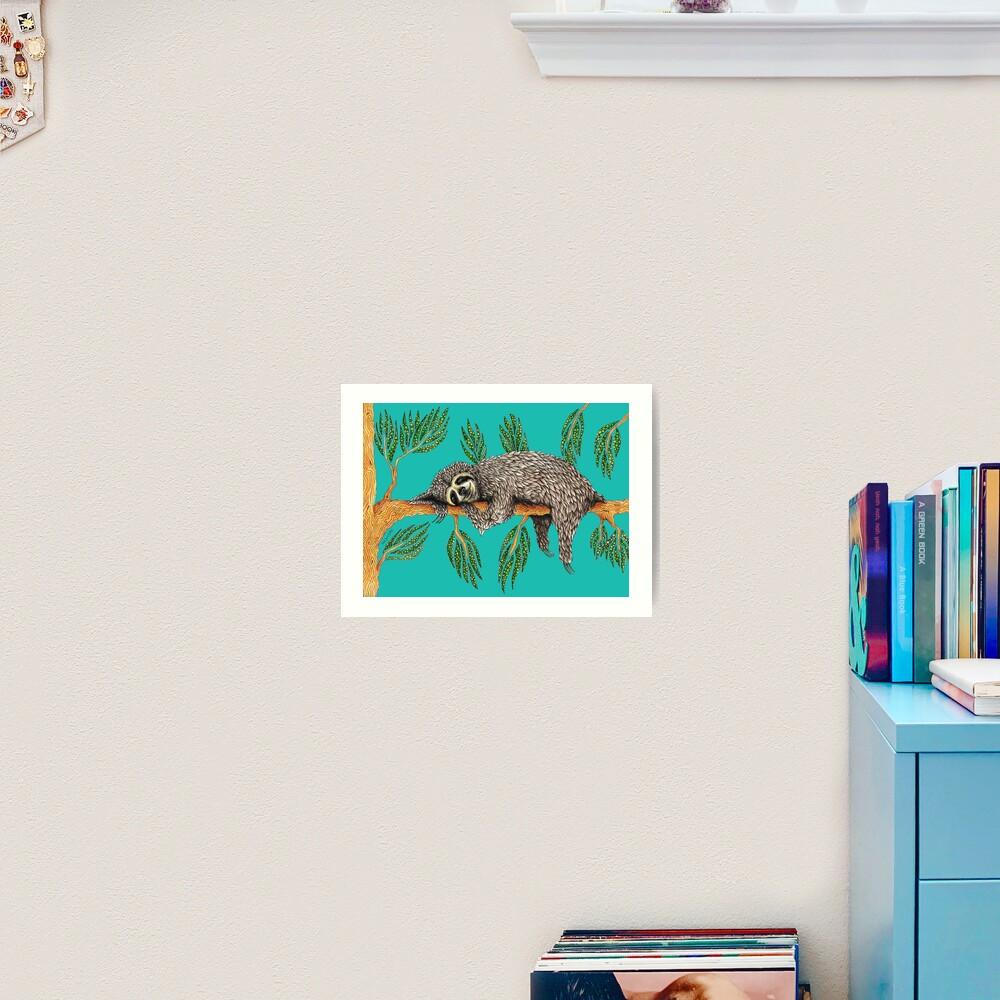 Sloth Totem Art Print