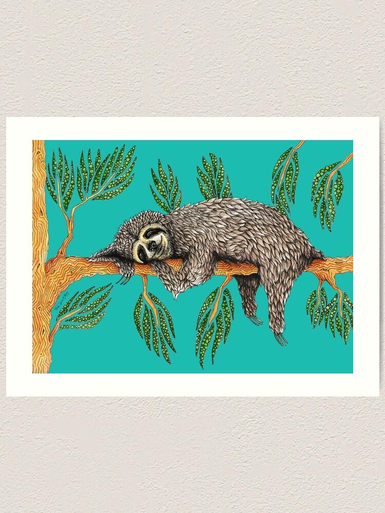 Alternate view of Sloth Totem Art Print