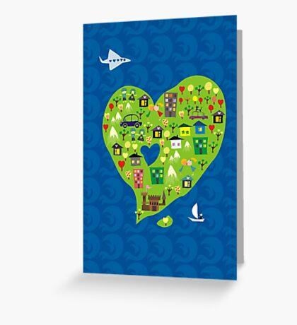 heart island Greeting Card