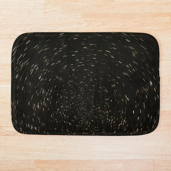 Southern Celestial Pole Star Trails Graphic Version Bath Mat