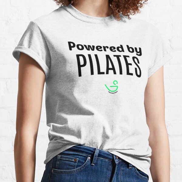 Powered by Pilates (Black Text) Classic T-Shirt